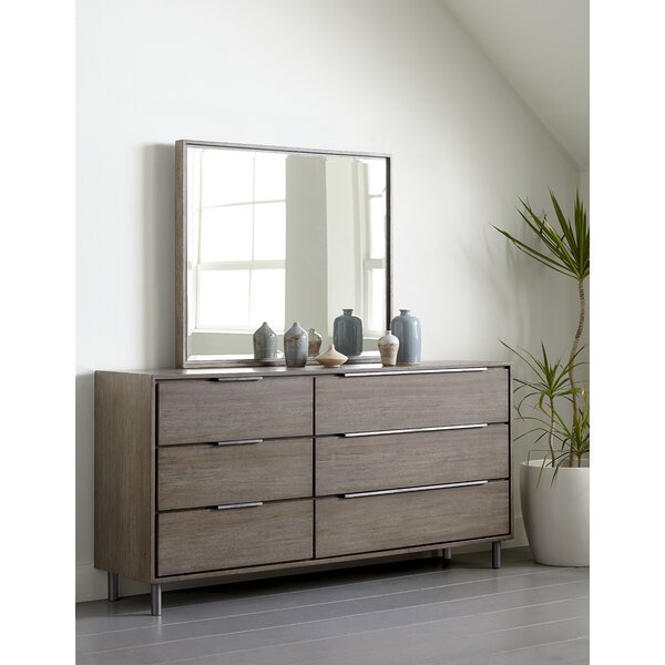 McKaylah 6 Drawer Dresser with Mirror by Wrought Studio