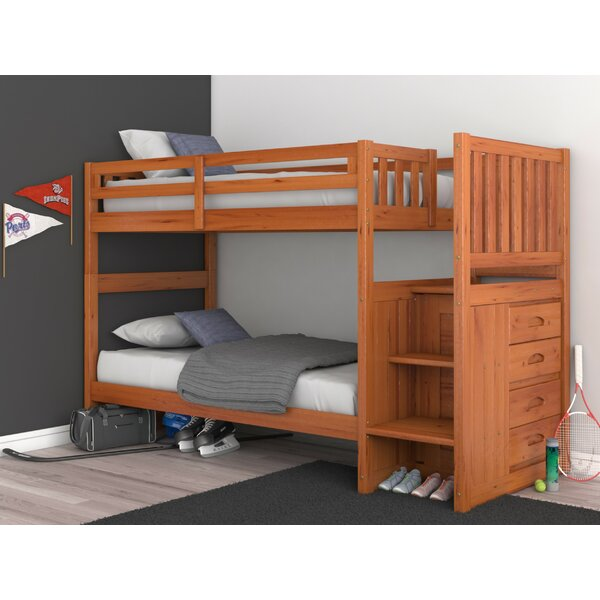 Nunzio Twin Over Twin Bunk Bed with Drawers by Birch Lane™ Heritage