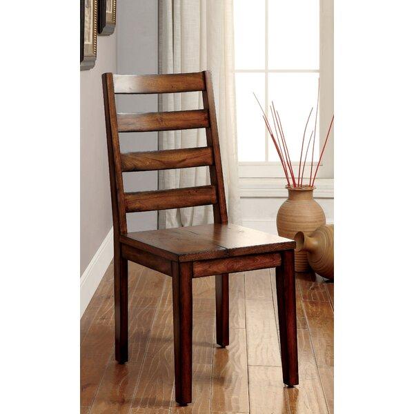 Loon Peak Timberlane Ladder Back Side Chair In Tobacco Oak Reviews Wayfair