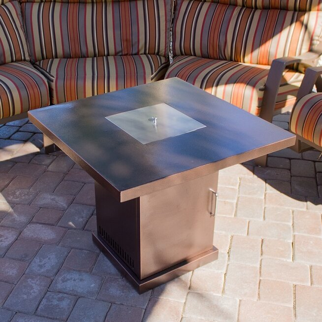 az patio heaters steel propane fire pit table & reviews   wayfair