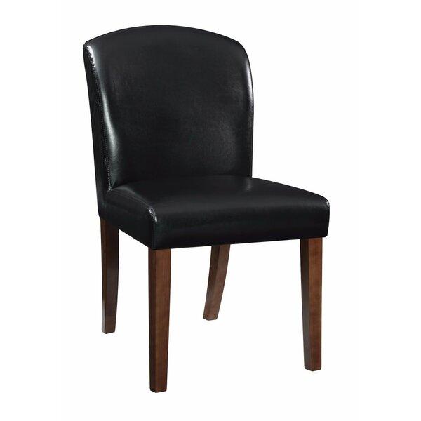 Hofer Genuine Leather Upholstered Dining Chair (Set of 2) by Winston Porter