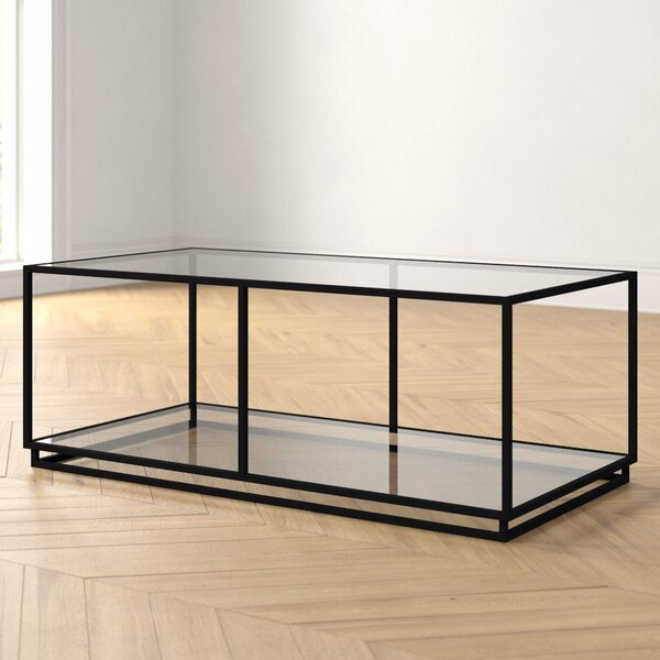 Gretchen Floor Shelf Coffee Table With Storage By Foundstone