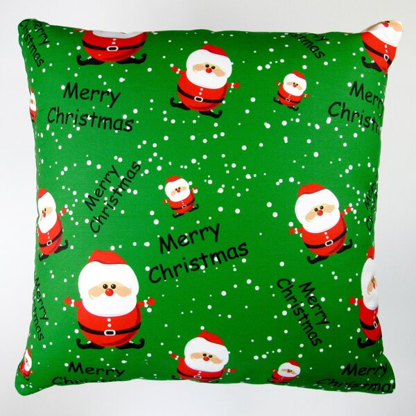 Christmas Merry Christmas Santa Claus Throw Pillow Cover by Artisan Pillows