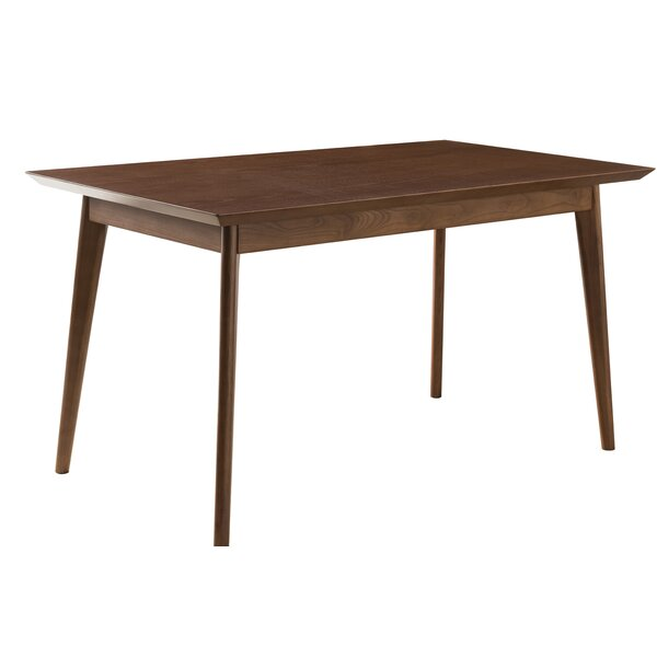 Johson Mid-Modern Solid Wood Dining Table by George Oliver