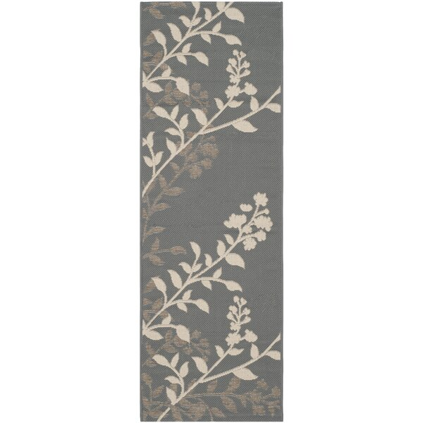 Laurel Anthracite / Beige Indoor/Outdoor Rug by August Grove