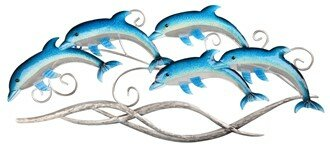 Dolphin Wall Décor by Rosecliff Heights
