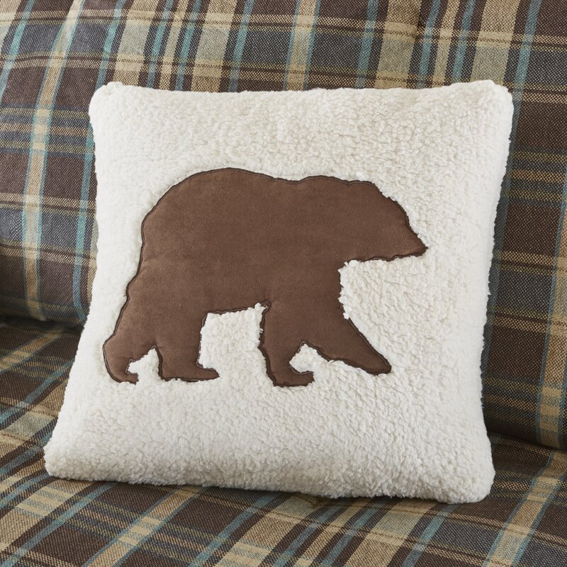 Woolrich Hadley Berber Leather/Suede Throw Pillow & Reviews Wayfair