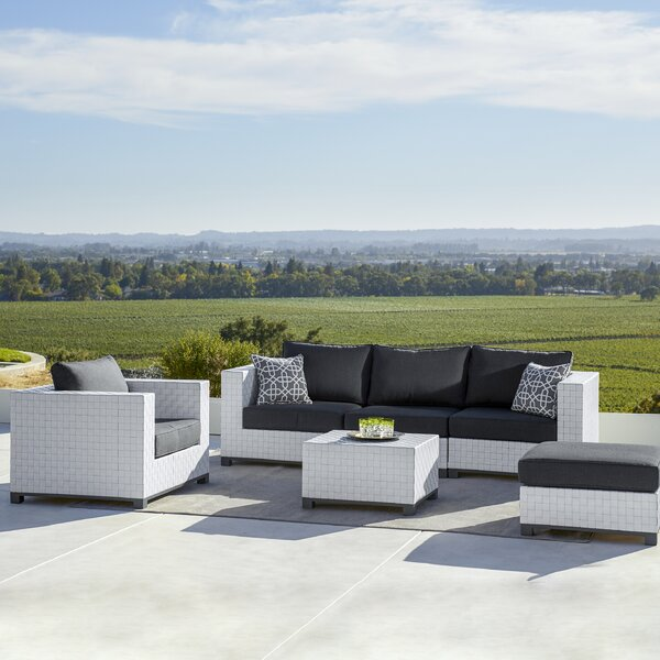 Garbutt 6 Piece Rattan Multiple Chairs Seating Group with Sunbrella Cushions