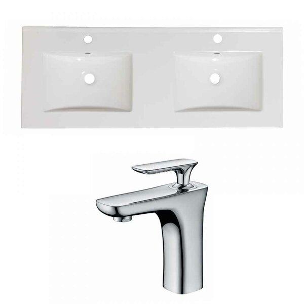 Xena Ceramic 48 Double Bathroom Vanity Top by Royal Purple Bath Kitchen