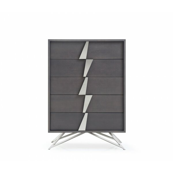 Delossantos Modern 5 Drawer Chest by Orren Ellis