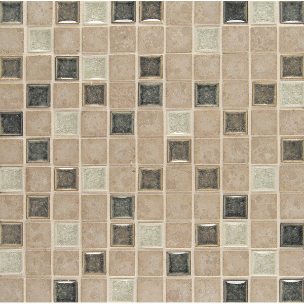 Kisment 1 x 1 Glass Mosaic Tile in Bliss by Bedrosians