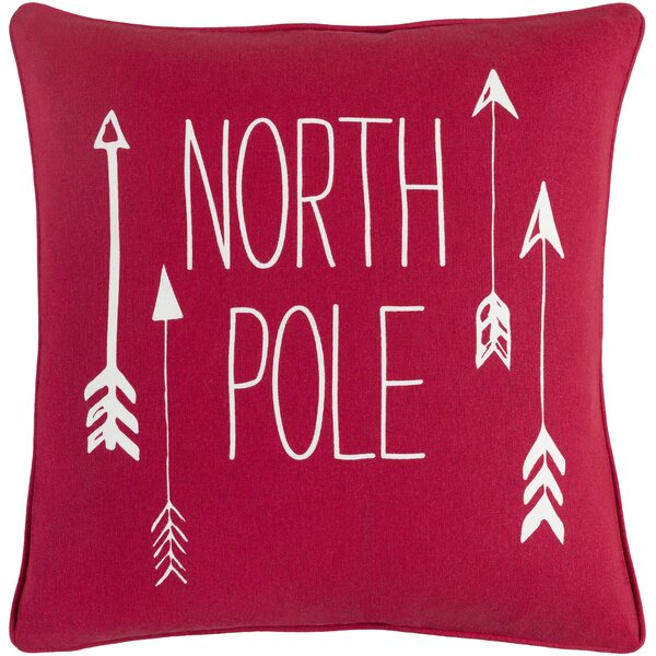 Holiday North Pole Modern Cotton Throw Pillow Cover by The Holiday Aisle