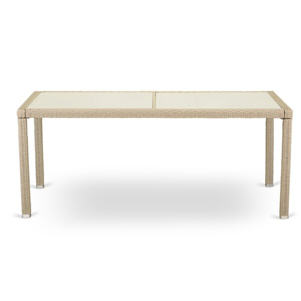Nev Wicker Dining Table by Ivy Bronx