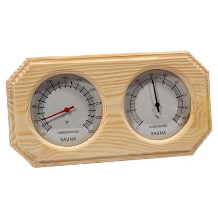 Deluxe Wood Thermometer and Hygrometer by Baltic Leisure