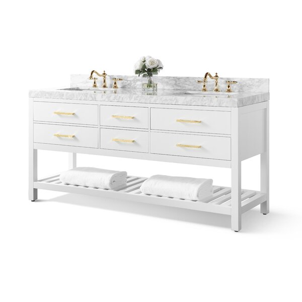 Jauss 72 Double Bathroom Vanity Set by Mercer41