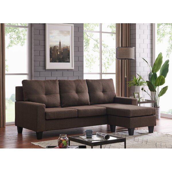 Hodder Reversible Sectional with Ottoman by Ebern Designs