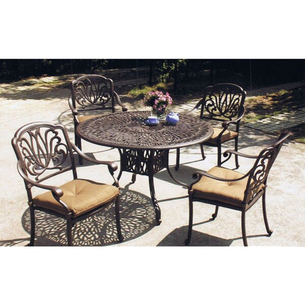 Kristy 5 Piece Dining Set with Cushions by Darby Home Co