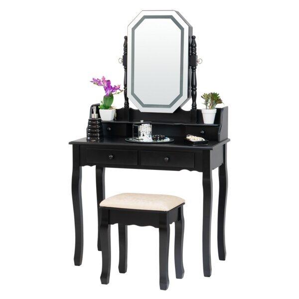 Grimm Vanity Set with Mirror by Rosdorf Park