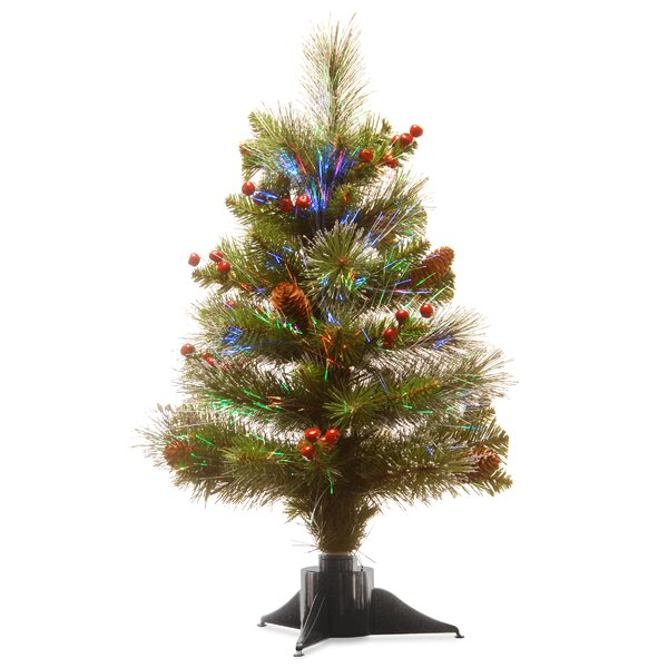 Fiber Optic 24 Green Spruce Tree Christmas Tree by The Holiday Aisle