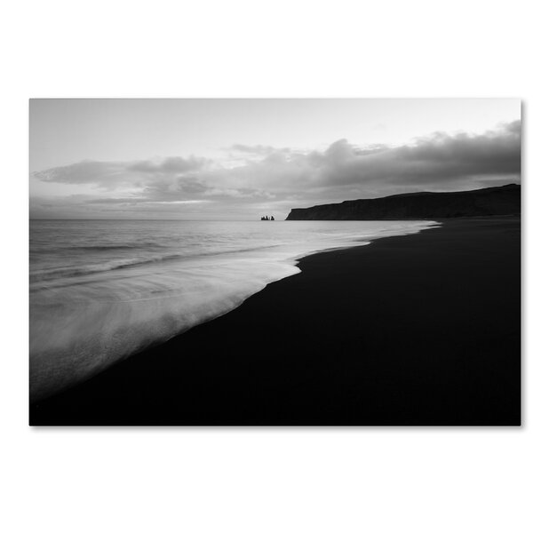 On the Black Beach by Philippe Sainte-Laudy Photographic Print on Wrapped Canvas by Trademark Fine Art