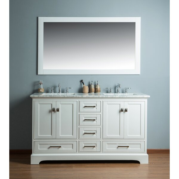 Stian 60 Double Sink Bathroom Vanity Set by Willa
