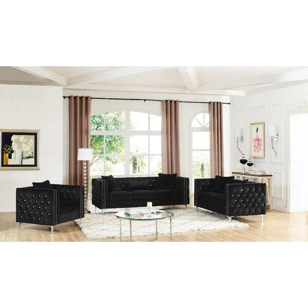 Cade 3 Piece Living Room Set by Mercer41
