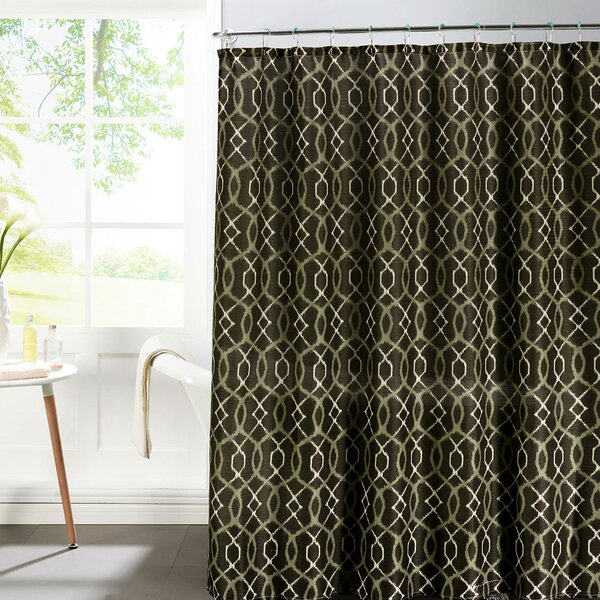 Faux Linen Textured Shower Curtain Set by Bath Studio