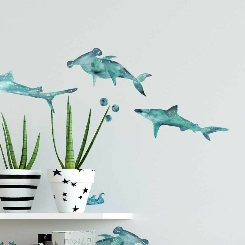 Little Sharks Wall Decal