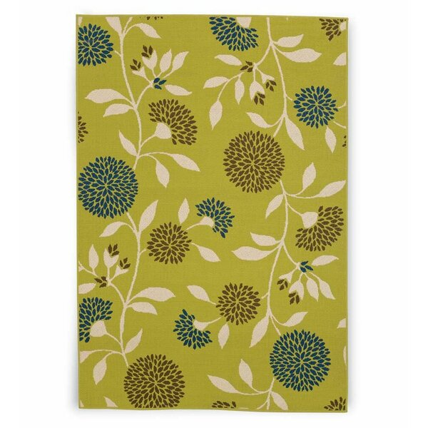 Floral Surry Rug Green Indoor/Outdoor Area Rug by Plow & Hearth