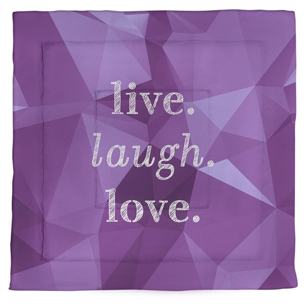 Live Laugh Love Single Reversible Comforter