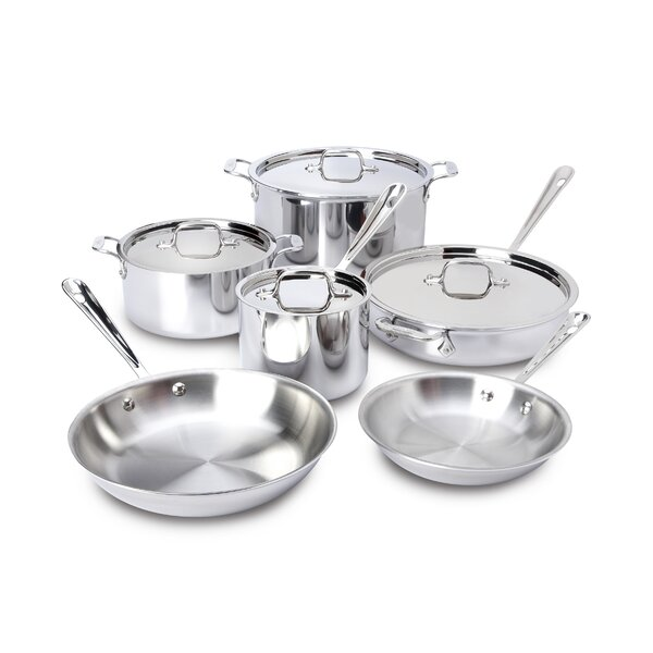 D3 Stainless Steel 10 Piece Cookware Set by All-Clad