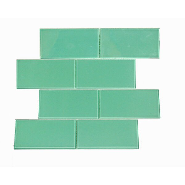 Quality Value Series 3'' x 6'' Glass Subway Tile in Light Teal by WS Tiles