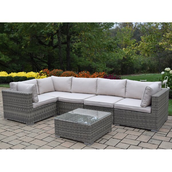 Borneo 6 Piece Sectional Set with Cushions by Oakland Living