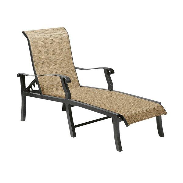 Cortland Sling Reclining Chaise Lounge by Woodard