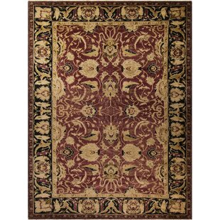 Read Reviews Grigori Hand-Knotted Wool Purple/Black Area Rug By Isabelline