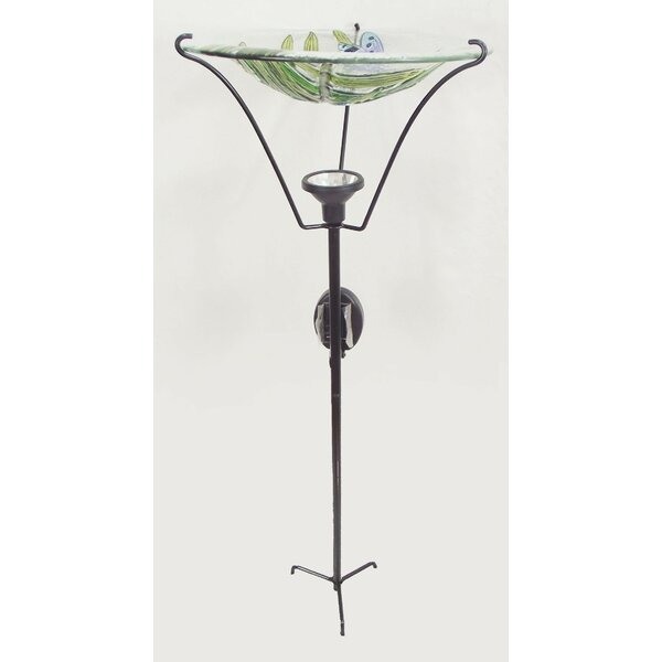 Dragonfly Solar and Lighted Birdbath by Continental Art Center