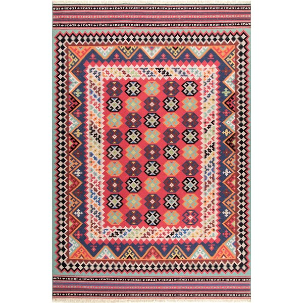 Chapa Wool Red Area Rug by Bungalow Rose