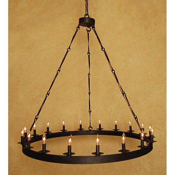 Arbuckle 18-Light Candle Style Wagon Wheel Chandelier by Canora Grey Canora Grey