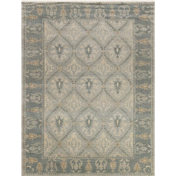 Earnshaw Hand-Knotted Gray Area Rug by Fleur De Lis Living