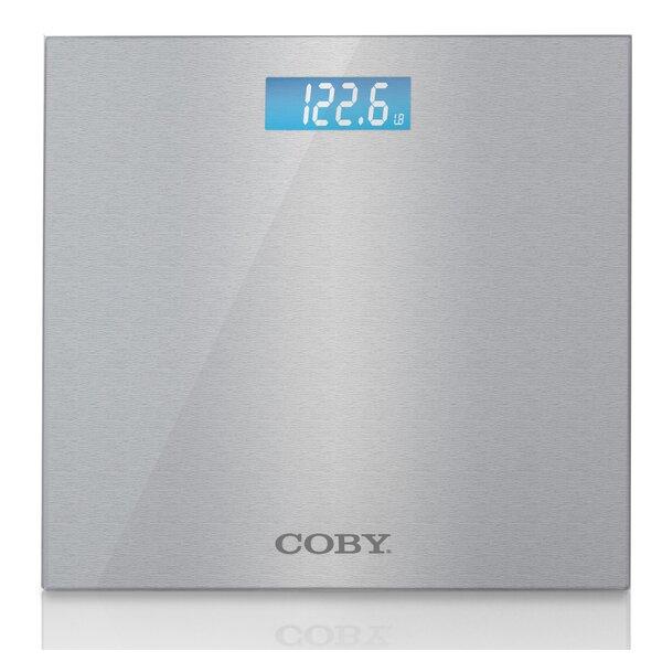 Brushed Metal Bathroom Digital Scale by COBY