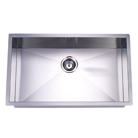 Towne Square 19 L x 32 W Gourmetier Stainless Steel Single Bowl Undermount Kitchen Sink by Kingston Brass