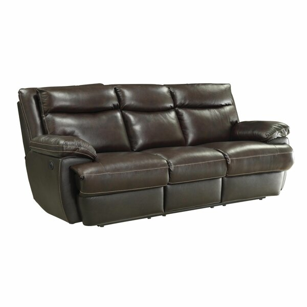 Leocadia Leather Reclining Sofa by Red Barrel Studio Red Barrel Studio
