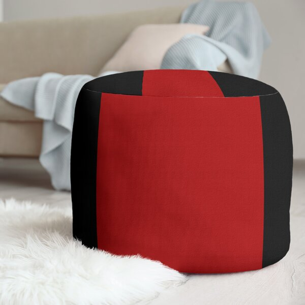 Louisville Stripes Cube Ottoman By East Urban Home