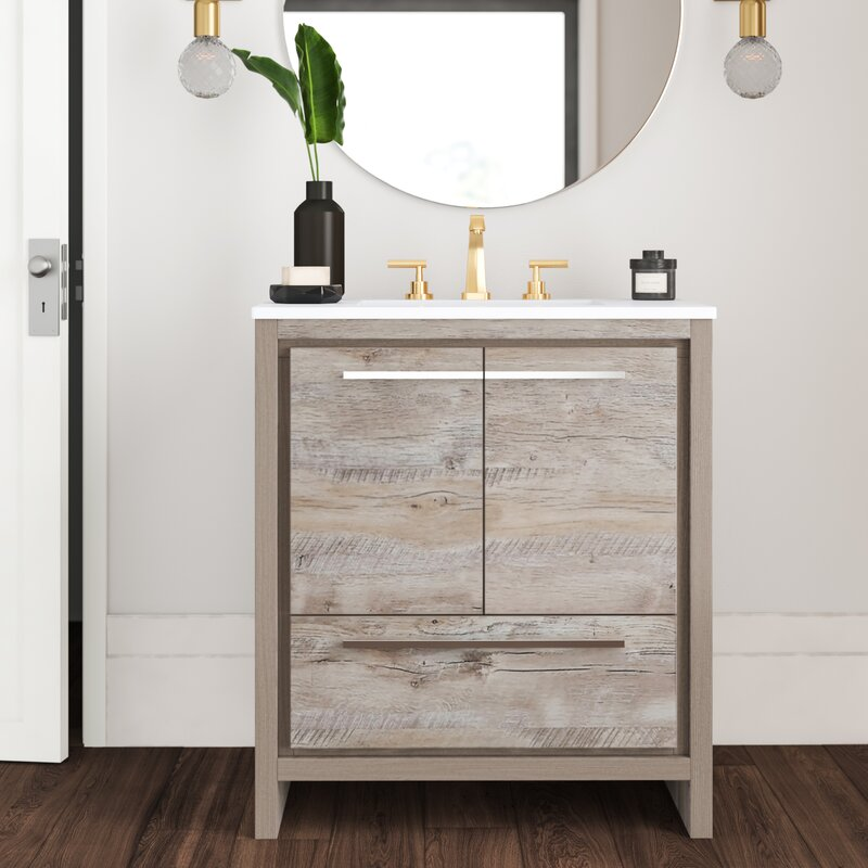 Mercury Row Bosley Modern 30 Single Bathroom Vanity Set Reviews Wayfair