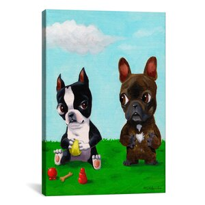 Brian Rubenacker Bt Frenchie Graphic Art on Wrapped Canvas by Wrought Studio
