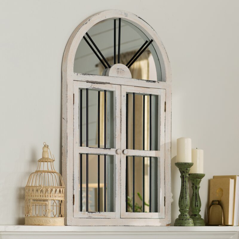 Laurel Foundry Modern Farmhouse Faux Window Wood Wall