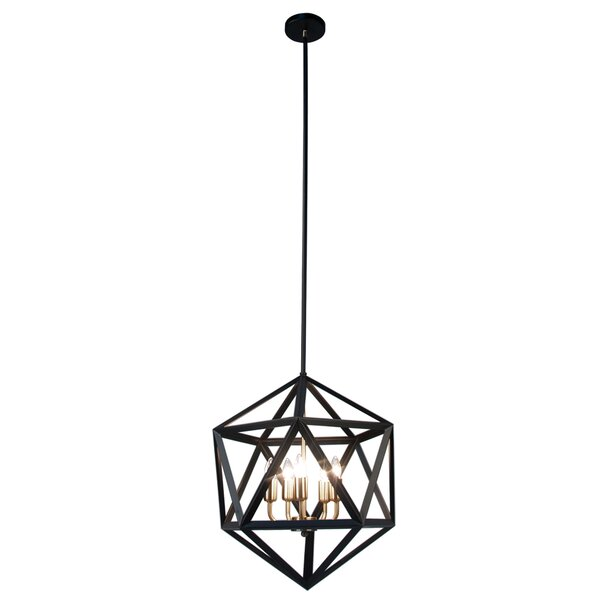 Harcrest 5-Light Candle Style Geometric Chandelier by Wrought Studio Wrought Studio