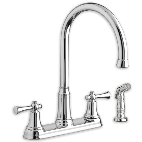 Portsmouth Double Handle Kitchen Faucet with Side Spray by American Standard