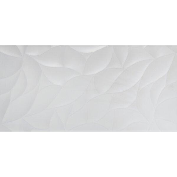 Jazz Bloom 12 x 24 Ceramic Field Tile in White by Emser Tile