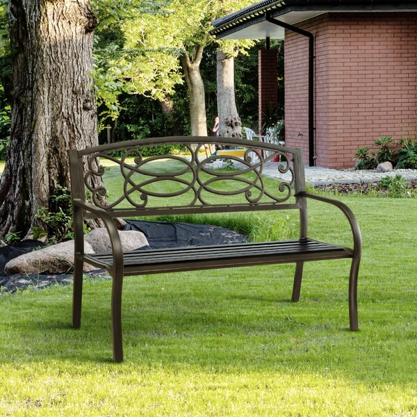 Swirling Romance Garden Bench by Hokku Designs